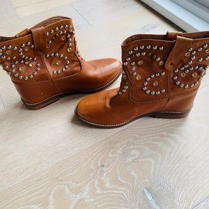 Isabel marant caleen booties ankle boots 39 9 stud